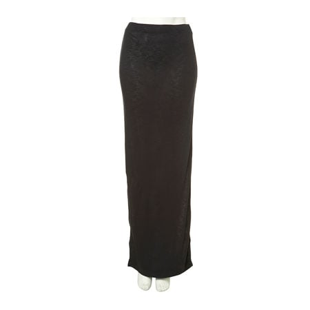 Jersey maxi skirt in navy blue, approx $40, Topshop