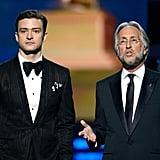 Justin Timberlake and Neil Portnow