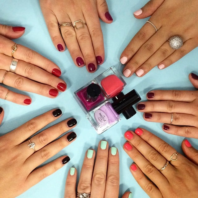 It was all hands on deck in the office today, with the POPSUGAR Australia team sporting different shades of The Parlour Room's new nail polishes.