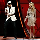 Carrie Underwood and Brad Paisley appeared on stage together at the  Country Music Association Awards in Nashville.