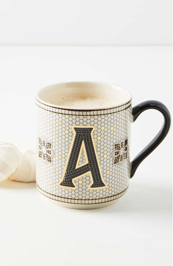 Anthropologie Bistro Monogram Mug
