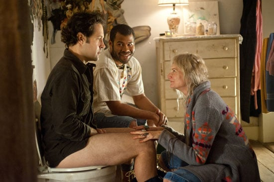 Paul Rudd, Jordan Peele and Kerri Kenney in Wanderlust.