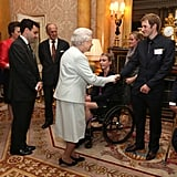 The queen met with Team GB Olympic and Paralympic medalists at Buckingham Palace.