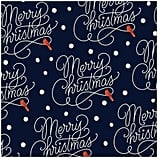 Merry Christmas Navy Christmas Wrapping Paper Roll