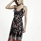 Express Chiffon Floral Print Surplice Ruffle Dress ($70)
