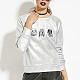 Forever 21 Graphic Metallic Pullover ($25)