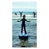 Harper Smith got up on a surfboard on her first wave! Source: Instagram user tathiessen