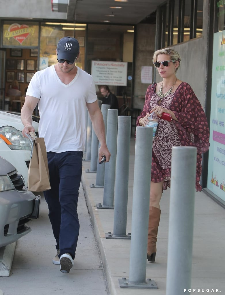 Chris Hemsworth and Elsa Pataky grabbed lunch in LA on Thursday.