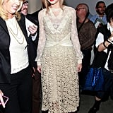 Taylor Swift wore lace to Rodarte.