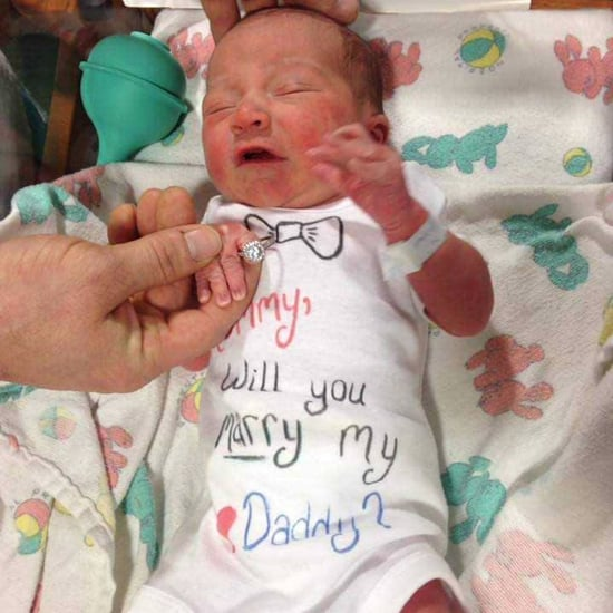New Dad Proposes in the Hospital After Baby's Birth
