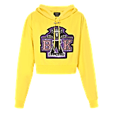 Shop the Exact Balmain For Beyoncé Cropped Yellow Hoodie