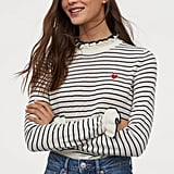 H&M Ruffle-Trimmed Sweater