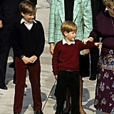 When she smiled down at her kids in perfectly coordinated outfits.