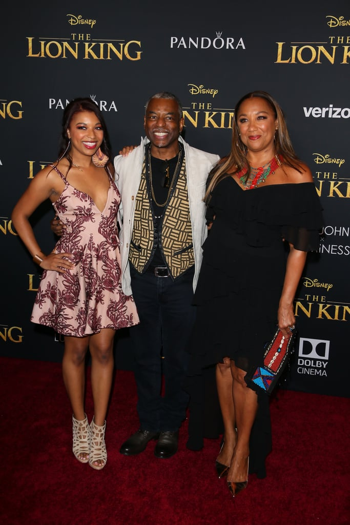 Pictured: Michaela Jean Burton, LeVar Burton, and Stephanie Cozart Burton at The Lion King premiere in Hollywood.