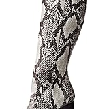 Charlotte Russe Snakeskin Knee-High Boots