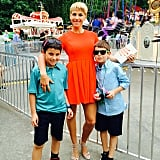 Jessica Seinfeld was joined by her sons, Julian and Shepherd, at the Baby Buggy Bedtime Bash in Central Park in New York City. Source: Instagram user jessseinfeld