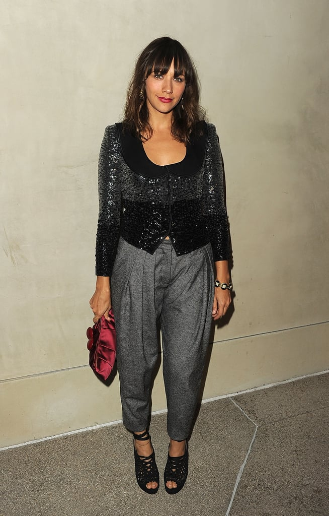 Rashida Jones went to a dinner for Armani and Vanity Fair in LA.