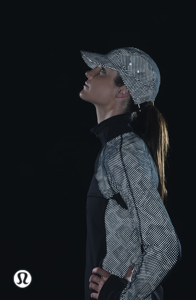 Lululemon Race With Grace 1/2 Zip II *SE Reflective ($198) and Race To Place Run Hat *SE Reflective ($68).