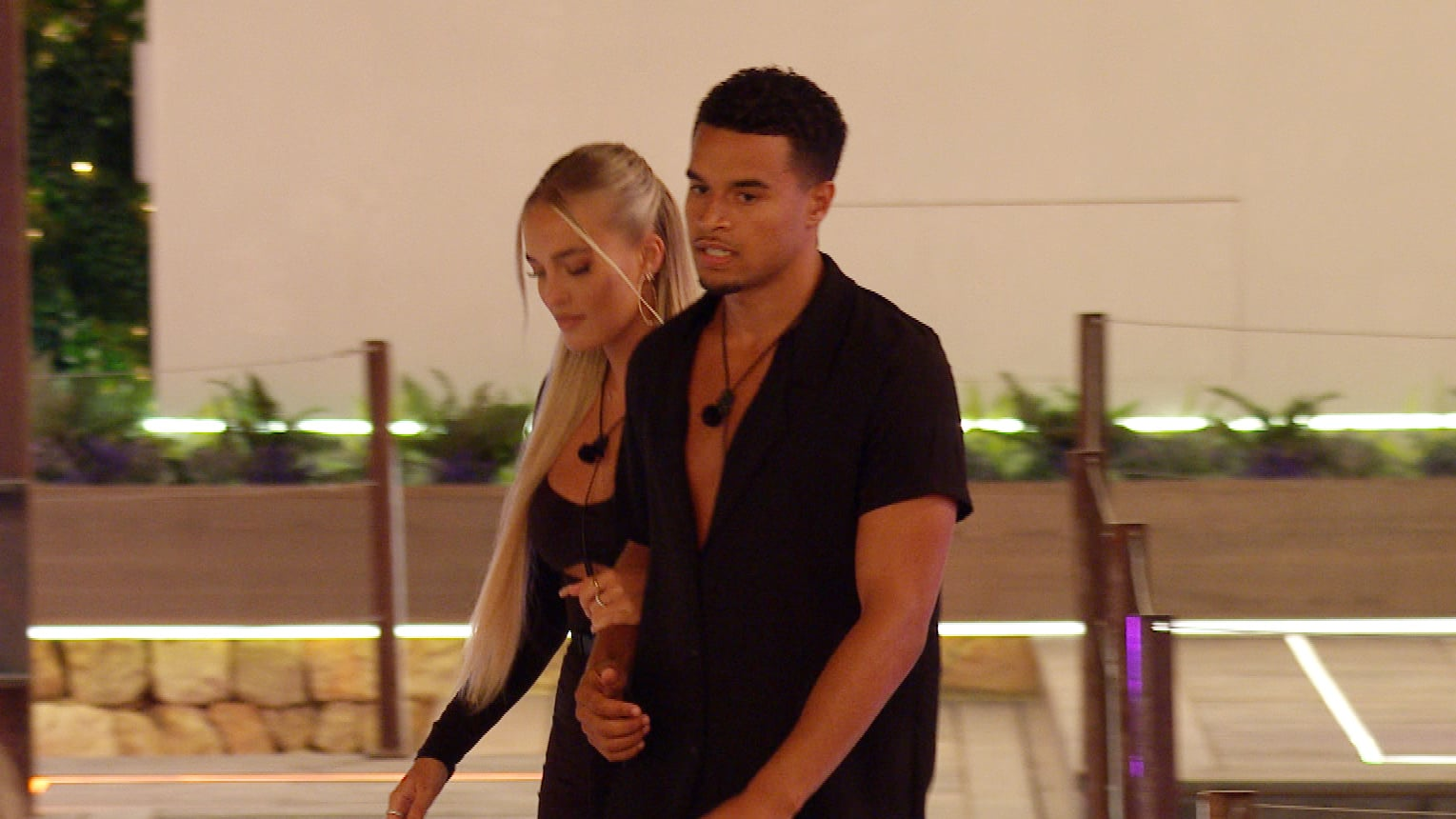 From Lifted EntertainmentLove Island: SR7: Ep28 on ITV2 and ITV Hub new episodes are available the following morning on BritBoxPictured: Toby returns with Mary.This photograph is (C) ITV Plc and can only be reproduced for editorial purposes directly in connection with the programme or event mentioned above, or ITV plc. Once made available by ITV plc Picture Desk, this photograph can be reproduced once only up until the transmission [TX] date and no reproduction fee will be charged. Any subsequent usage may incur a fee. This photograph must not be manipulated [excluding basic cropping] in a manner which alters the visual appearance of the person photographed deemed detrimental or inappropriate by ITV plc Picture Desk.  This photograph must not be syndicated to any other company, publication or website, or permanently archived, without the express written permission of ITV Picture Desk. Full Terms and conditions are available on the website www.itv.com/presscentre/itvpictures/termsFor further information please contact:james.hilder@itv.com / 0207 157 3052