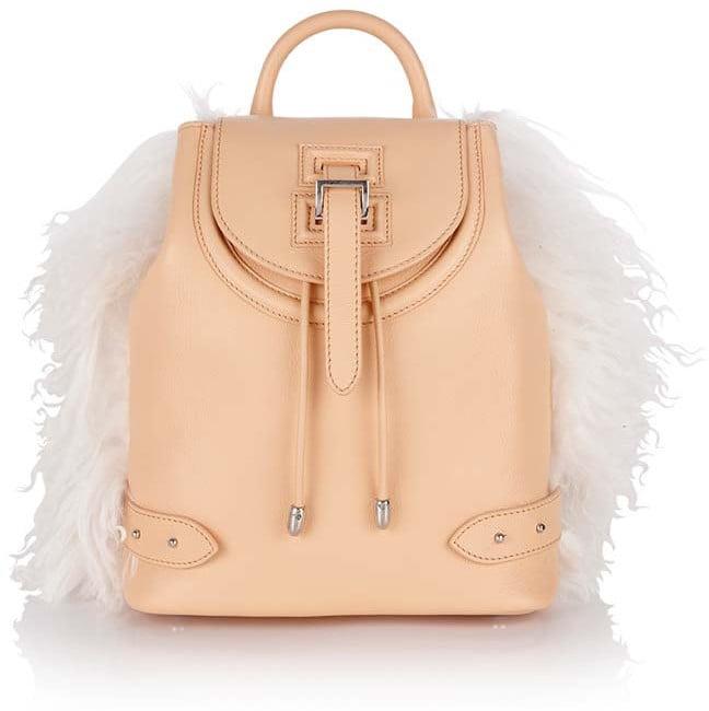 Meli Melo Backpack Mini Nude & Shearling ($760)