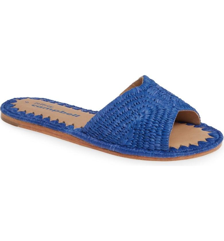 Jeffrey Campbell Dane Raffia Slide Sandals
