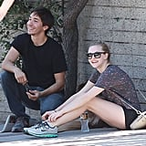 Amanda Seyfried and Justin Long spent a day in LA together, stopping to get her dog groomed and visiting a park.