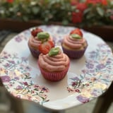 Strawberry Basil Cupcakes Recipe With Photos