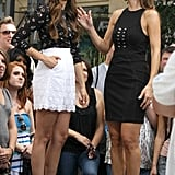 Nina Dobrev and Maria Menounos chatted.