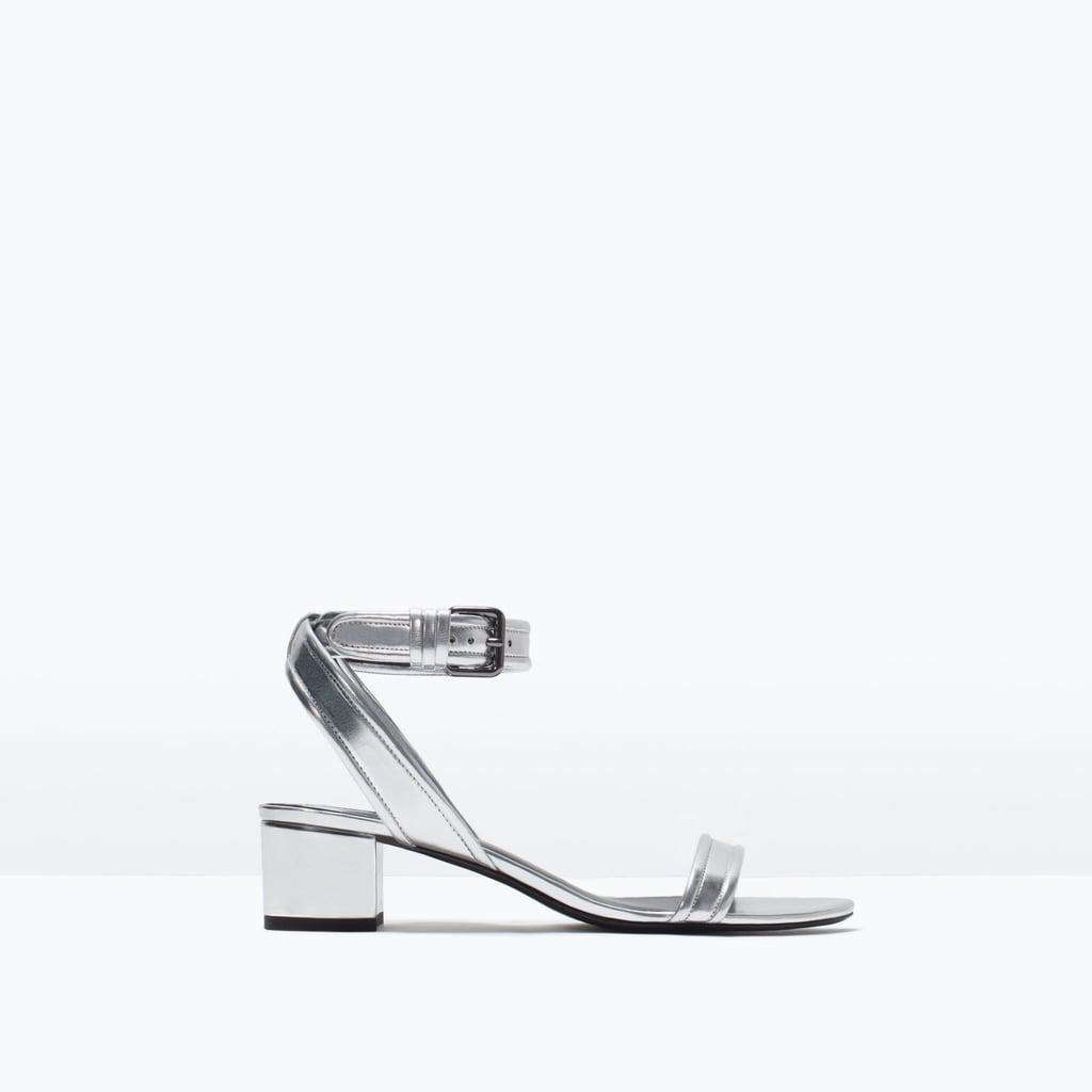 Zara Block Heel Ankle-Strap Sandals ($60)
