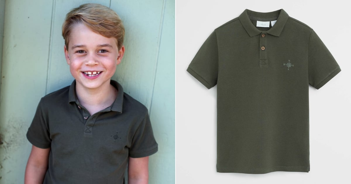 Prince George Wears a Surprisingly Affordable Mango Polo Shirt for His 7th Birthday Photo
