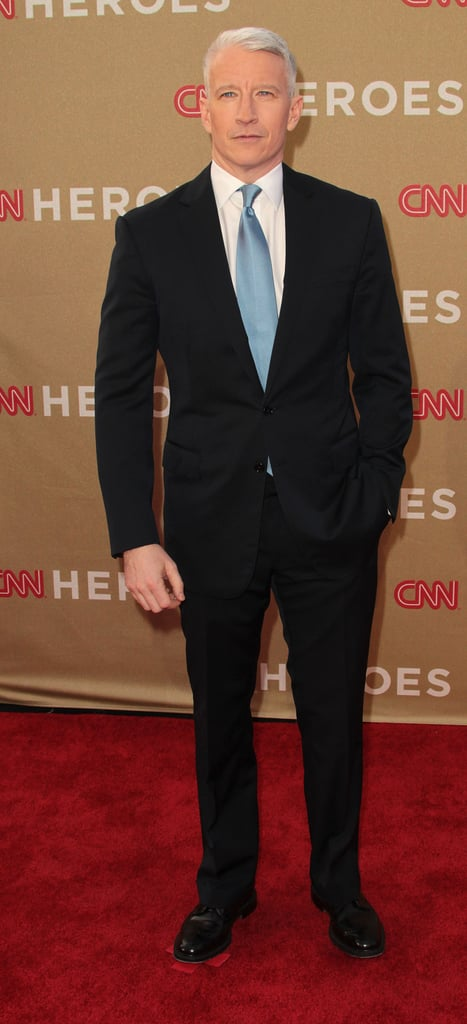 Anderson Cooper in a blue tie.