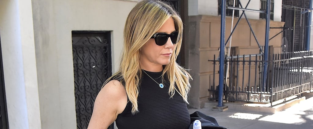 Zoom In on Jennifer Aniston's Necklace, and You'll Definitely Get the Message