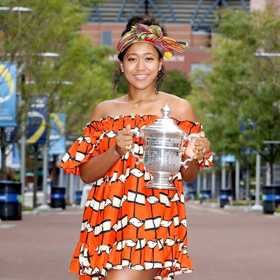Naomi Osaka's 2020 US Open Head Wrap and Orange Dress