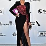 Shanina Shaik at the 2019 Elton John AIDS Foundation Academy Oscars Party