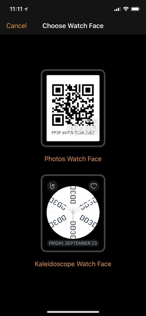 "Select the top option, ""Photos Watch Face."""