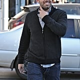 Ben Affleck sported aviator shades.