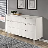 WE Furniture Pine Wood 6-Drawer Dresser