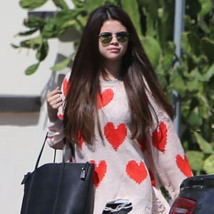 Selena Gomez Wearing Heart Sweater