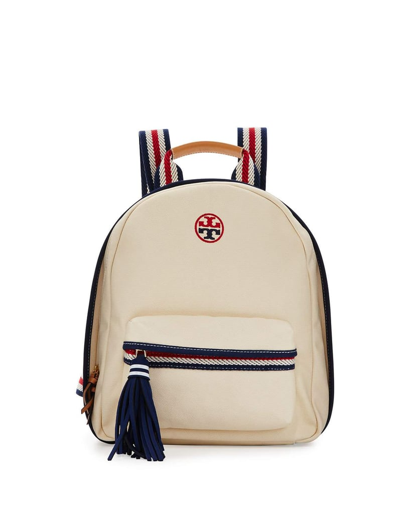 Tory Burch Preppy Canvas Backpack, Neutral/Multi ($250)