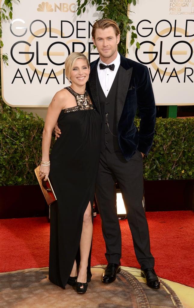 Chris Hemsworth and Elsa Pataky at the Golden Globes 2014