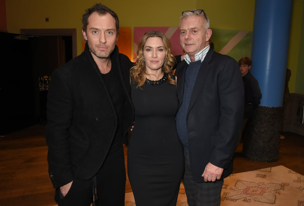 If you're obsessed with The Holiday — and who could blame you — then you're in for a Christmas treat. On Monday, Jude Law and Kate Winslet reunited for a screening of her latest film, Wonder Wheel, and it gave us all the feels. Sure, it's been 11 years since the two British actors starred together in The Holiday, where the play brother and sister pair Graham and Iris. But whether you love to watch the Nancy Meyers classic for the romance, the gorgeous-but-totally-unrealistic homes, or Jude and his sexy glasses, there's no denying that it's one of those beloved Christmas films that just get better as the years pass — and we simply love a good reunion! Kate and Jude were joined at the screening by British director Stephen Daldry (who directed Kate's Oscar winning performance in The Reader) and interior designer Nicky Haslam. Keep reading to see the cute photos!