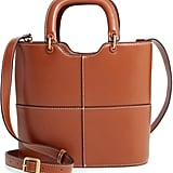 Staud Andy Seamed Leather Tote