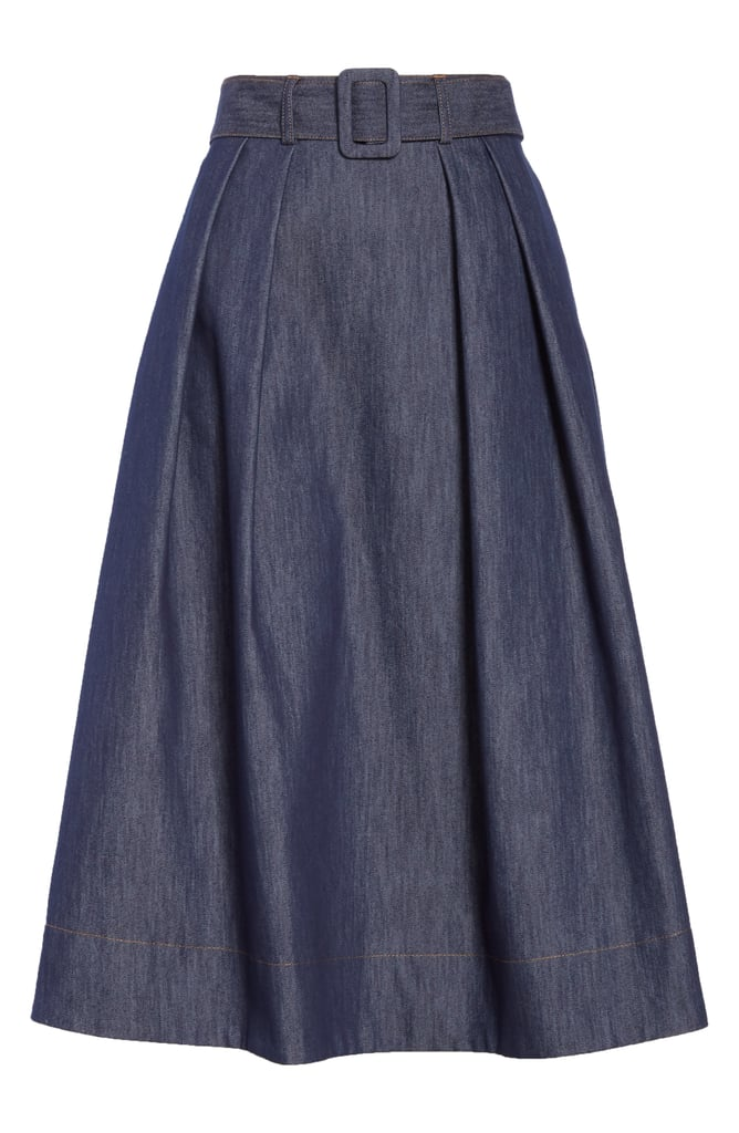 Tailored Denim Skirt
