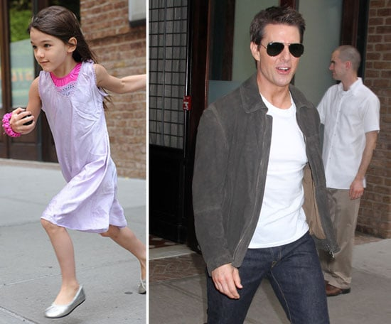 Tom Cruise and Suri Hit the Streets of NYC Ahead of a Special Night