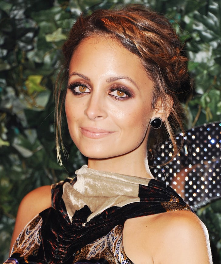 Nicole Richie Wedding Gown: Nicole Richie Wore Her Shoulder-length Hair Twisted Back