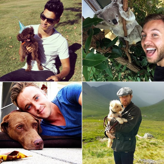 Hot British Celebrities With Animals