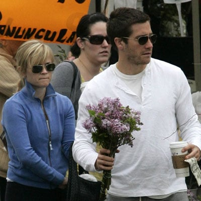 Reese Witherspoon and Jake Gyllenhaal at the Farmer's Market in Pacific Palisades, CA