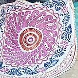 John Robshaw Round Cita Pink Beach Towel ($95)