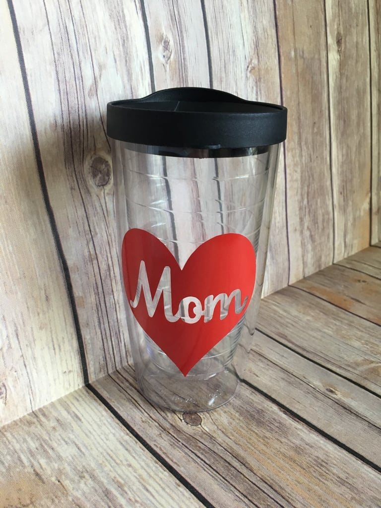 Mom Heart Coffee Tumbler