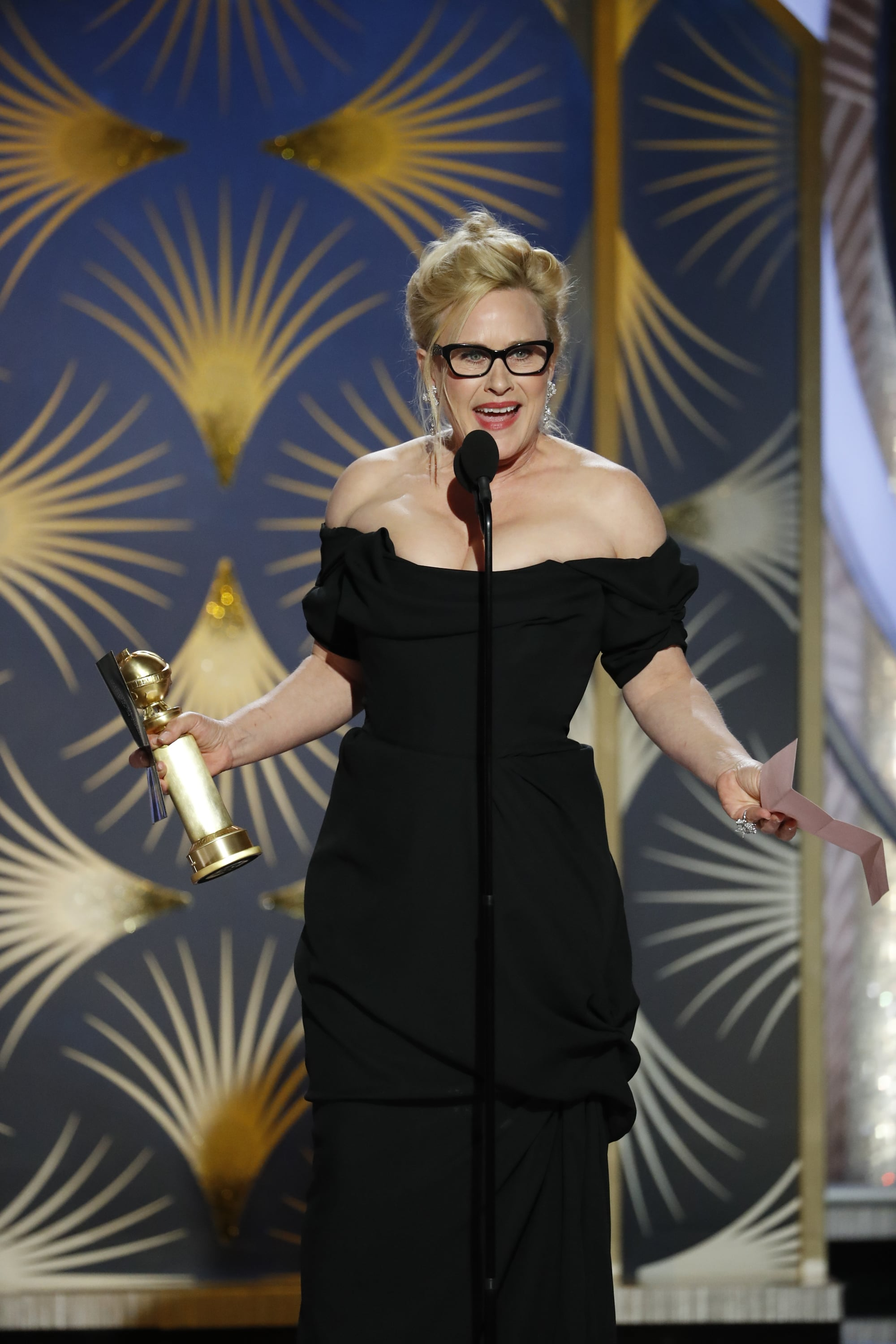 BEVERLY HILLS, CALIFORNIA - JANUARY 06: In this handout photo provided by NBCUniversal, Patricia Arquette from